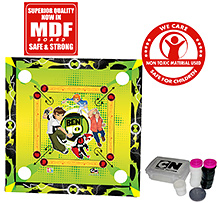Ben 10 Ultimate Alien 2 In 1 Carrom Board With Ludo