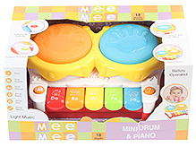 Mee Mee Mini Drum And Piano Musical Toy