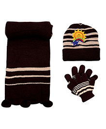 Babyhug Woolen Baby Winter Set - Pack Of 3