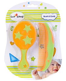 1st Step Brush And Comb Set - Orange Color