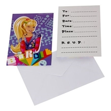 Barbie Invitation Cards