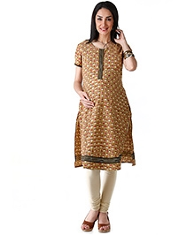 Morph Short Sleeves Printed Maternity Kurta