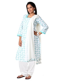 Morph Maternity Salwar Kameez And Dupatta Set - White