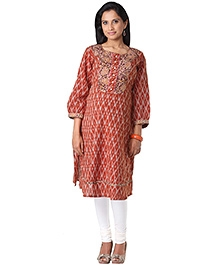Morph Maternity Glossy Brick Red Kurta