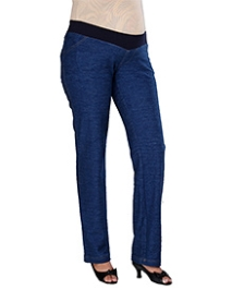 Morph Belly Panel Denim Pant Dark Blue