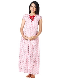 Morph Pretty Red Nursing Gown