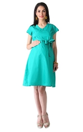 Morph Casual Sea Green Dress