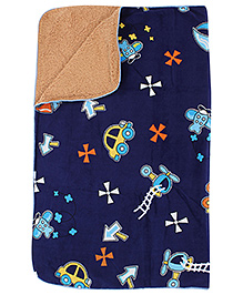 Car Print 100 X 80 Cm, Cozy Comfortable Soft Terry Blanket For Your Little One