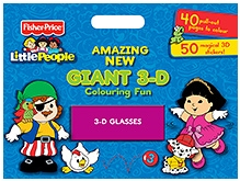 Fisher Price Amazing New Giant 3 D Colouring Book