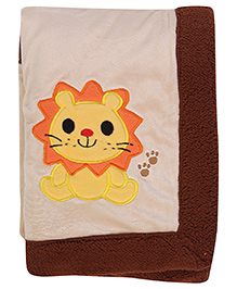 Baby Hug Baby Blanket Lion Applique