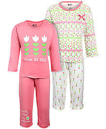FS Mini Klub Full Sleeves Night Suit - Pack Of 2