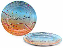 Karmallys Printed Paper Plates Celebration Print - 22 cm