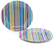 Karmallys Printed Paper Plates Stripe Print - 24 cm