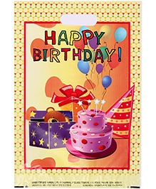 Karmallys Printed Plastic Bag With Happy Birthday Cake Print