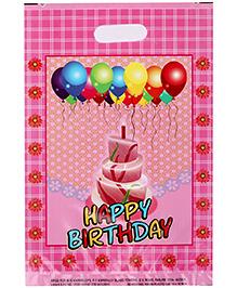 Karmallys Printed Plastic Bag With Happy Birthday Cake Print