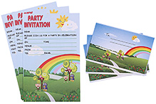 Karmallys Kids Party Invitation Pack - Nature Rainbow Print