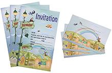 Karmallys Kids Party Invitation Pack - City Rainbow Print