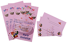Karmallys Kids Party Invitation Pack - Baby Print