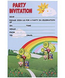 Karmallys Kids Party Invitation Pad - Set of 20