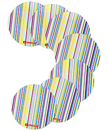 Karmallys Reusable Laminated Coasters Stripes Print - Small