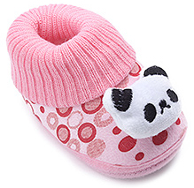 Cute Walk Baby Booties - Panda Face Design