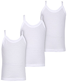 Bodycare Singlet Plain White Slips - Set Of 3