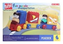 Peacock Bebe Blocks - Fun Puzzle Transportation