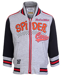 SportKing Full Sleeves Jacket With Front Pockets - Spider Patch