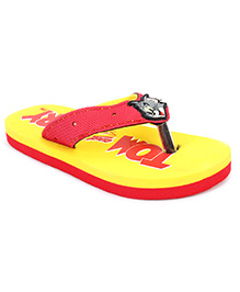 Tom And Jerry Yellow Flip Flop - Broad Strap