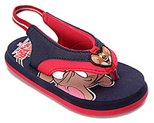 Tom And Jerry Broad Strap Flip Flop - Back Strap