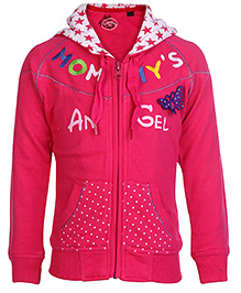SportKing Full Sleeves Hooded Jacket With Embroidery Size 24, 3 - 4 Years, Will keep your little girl warm this winter