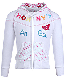 SportKing Full Sleeves Hooded Jacket With Embroidery Size 16, 6 - 12 Months, Will keep your little girl warm this winter