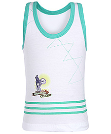 Bodycare White Sleeveless Vest - Contrast Piping