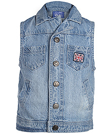 FS Mini Klub Sleeveless Denim Jacket - American Flag Badge