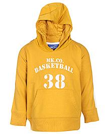 FS Mini Klub Full Sleeves Hooded Jacket - Basketball Print - 6 - 12 Months