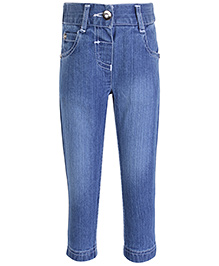 FS Mini Klub High Waist Denim Jeans - Stone Wash Pattern