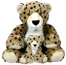 Animal Planet Mommy Cheetah With Baby Cub Soft Toy