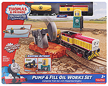 Fisher Price Thomas & Friends Trackmaster Motorized Railway - Pump And Fill Oil Works Set