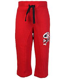 FS Mini Klub Red Track Pant - Skull Print