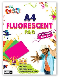Chitra Pogo Mad A4 Fluorescent Pad - 30 Sheets - 3 Years And Above