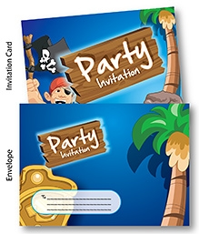 Chitra Party Invitation Pack - Pirates Theme