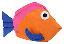 Tickles Fish Shaped Cushion 3 Years+, 43 X 28 Cm, A Colorful Addition To Your Kid's Room