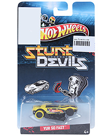 Hotwheels Stunt Devils Yur So Fast - Yellow