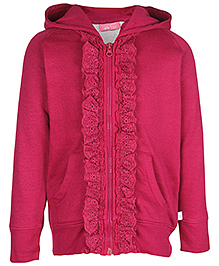 FS Mini Klub Full Sleeves Hooded Jacket - Lace Detail
