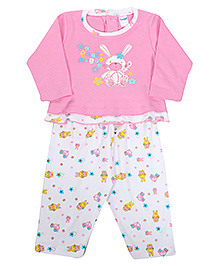 Shirt And Legging Set  -  Peek A Boo Print Medium, 3 - 6 Months, Soft And Comfortable T-shirt With Leggings Set