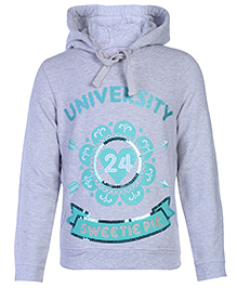 FS Mini Klub Full Sleeves Hooded Sweatshirts - Grey