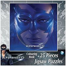 Krrish3 Colouring Book Plus 25 Pieces Jigsaw Puzzle