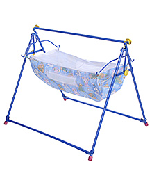 Mothertouch Indo Cradle Printed - Blue