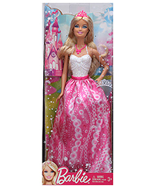 Barbie Princess Doll White And Pink