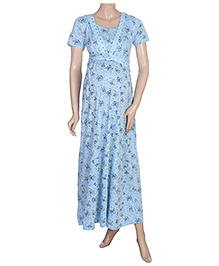 Uzazi  Maternity Short Sleeves  Long Night Gown Small